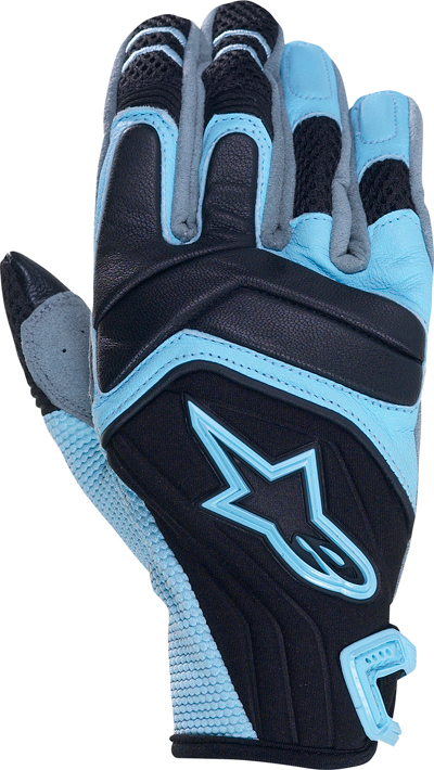 ALPINESTARS Stella SMX-4 women leather-neoprene gloves col. blue