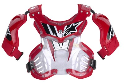 Alpinestars Storm MX chest protector clear red