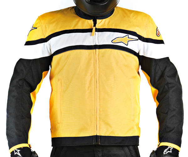 Alpinestars T-Flat Track motorcycle jacket black-yellow