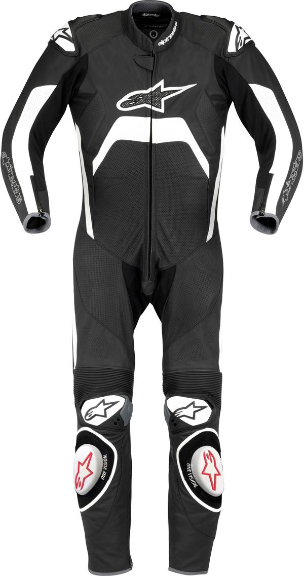 Tuta moto intera Alpinestars Tech 1-R nero-bianca