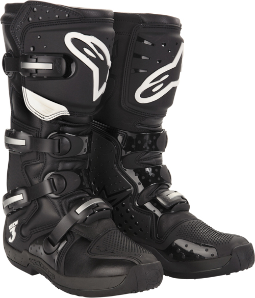 Stivali moto cross Alpinestars Tech 3 neri