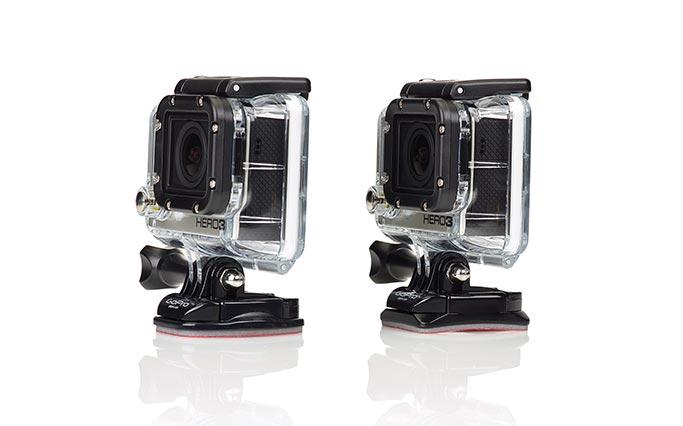 Supporti adesivi piani e curvi per videocamera GoPro Hero