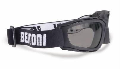 BERTONI AF120B Motorcycle Anti-Fog Goggles