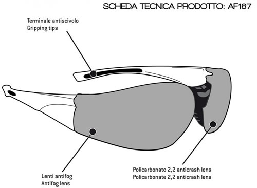 Occhiali moto Bertoni Antifog AF167B