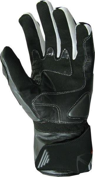 Styve Shield leather gloves black white