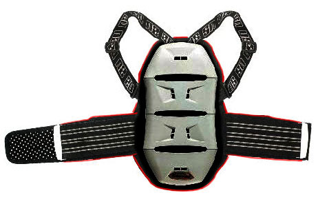 Ultimate Stuff Akira kid back protector 4 plates Grey Red
