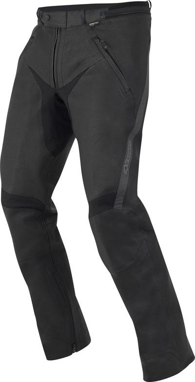 Pantaloni moto in pelle Alpinestars 365 Gore-Tex neri