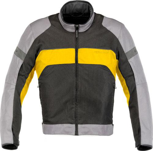 Giacca moto Alpinestars Xenon Air grigio chiaro-gialla