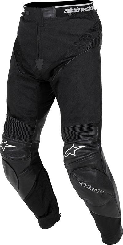 Pantaloni moto Alpinestars A-10 Sport tessuto-pelle neri