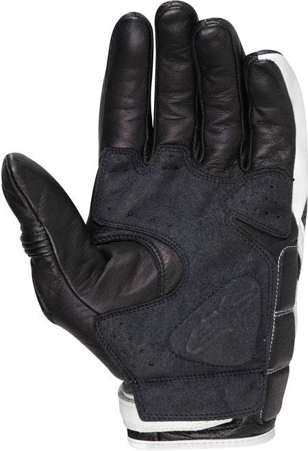 Guanti moto Alpinestars in pelle Mustang nero-bianchi
