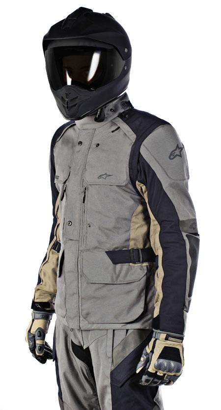 Giacca moto Alpinestars Durban Gore-Tex grigio-sabbia
