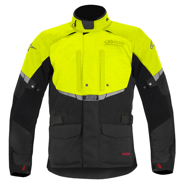 Alpinestar Andes Drystar motorcycle jacket black-yellow fluo