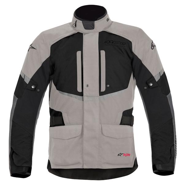 Alpinestar Andes Drystar motorcycle jacket light grey-black