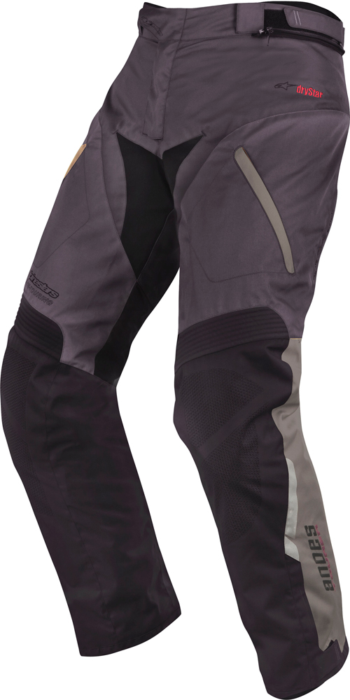 Alpinestars Andes Drystar motorcycle pants grey black