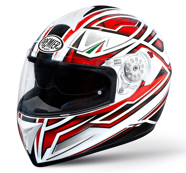 Premier Angel full face helmet White Red ZR8