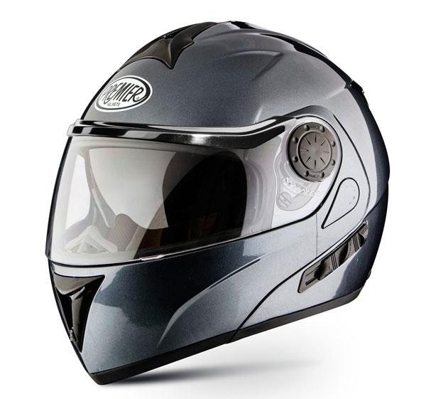 Casco moto modulare Premier DREAM LINER titanio doppia visera