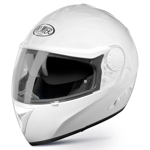 Modular Motorcycle Helmet Premier DREAM LINER white double visor
