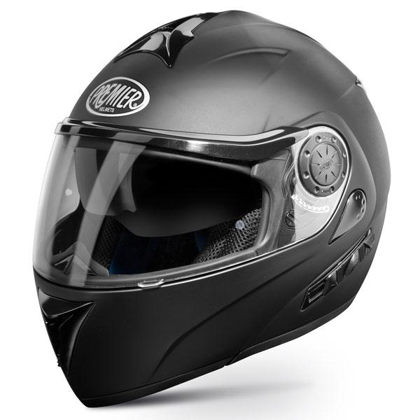 Casco moto modulare Premier DREAM LINER nero opaco doppia visera