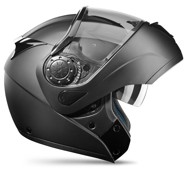 DREAM LINER Premier Modular Motorcycle Helmet matte black double