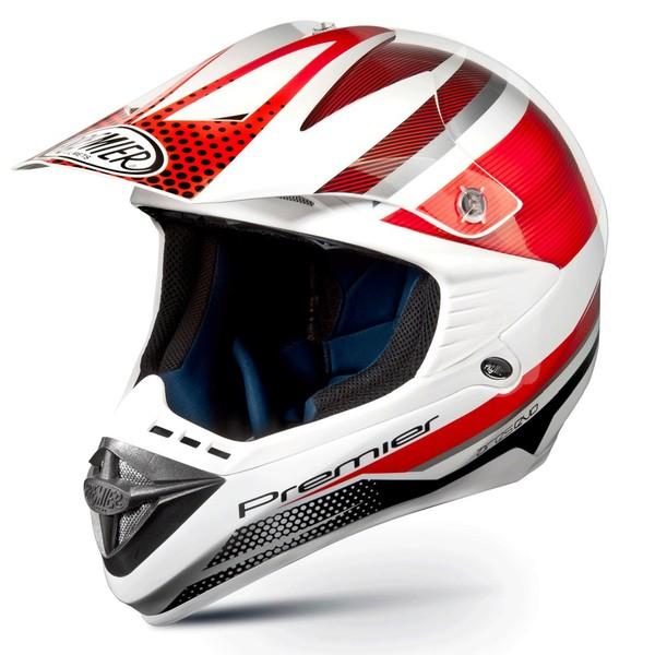Motorcycle Helmet Premier ARES EVO red cross