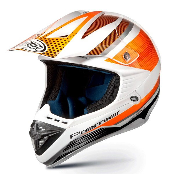Casco moto cross Premier ARES EVO arancio