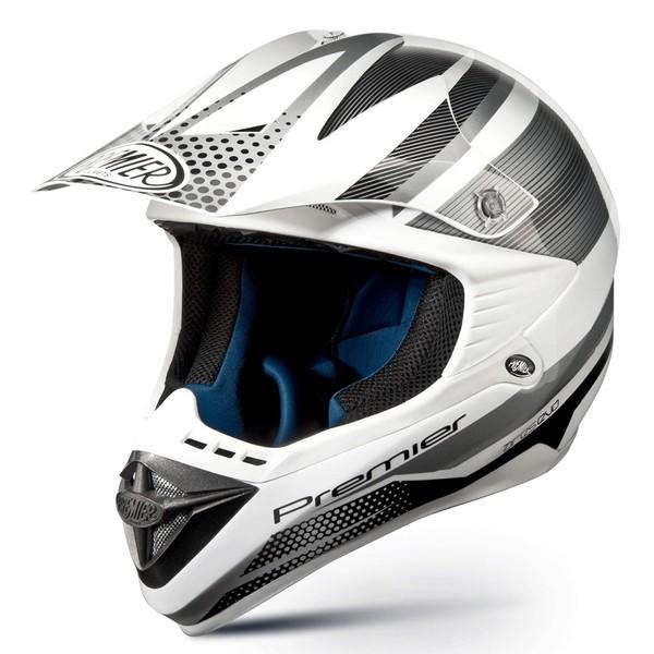 Casco moto cross Premier ARES EVO argento