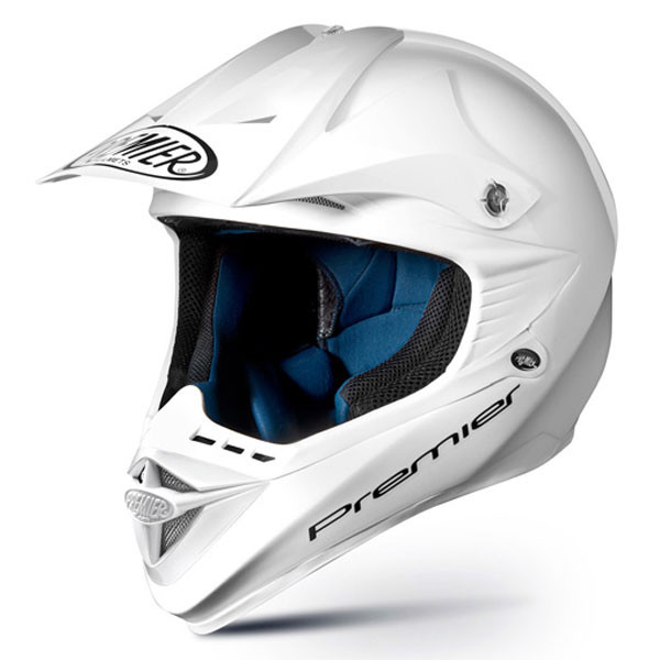 Cross motorcycle helmet Premier ARES EVO white