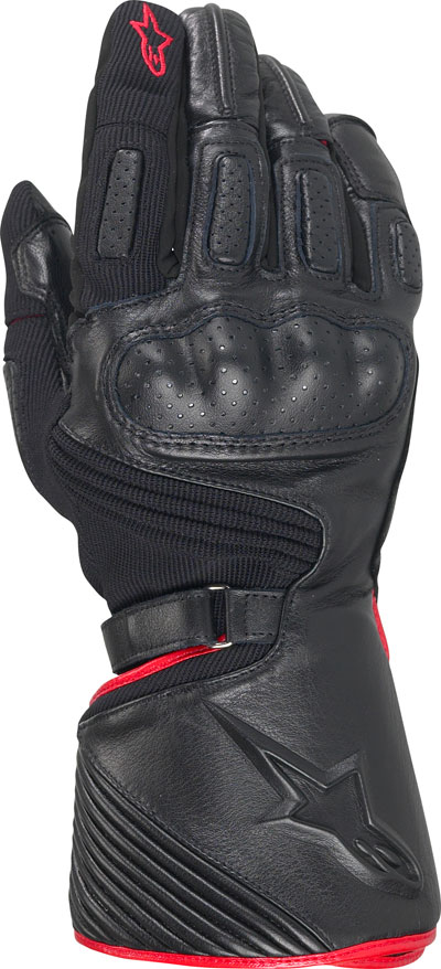 Alpinestars Apex Drystar textile-leather gloves black-red