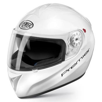 Full face helmet Premier Angel monochrome white double visor