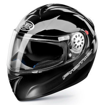 Full face helmet Premier Angel-color glossy black double faces