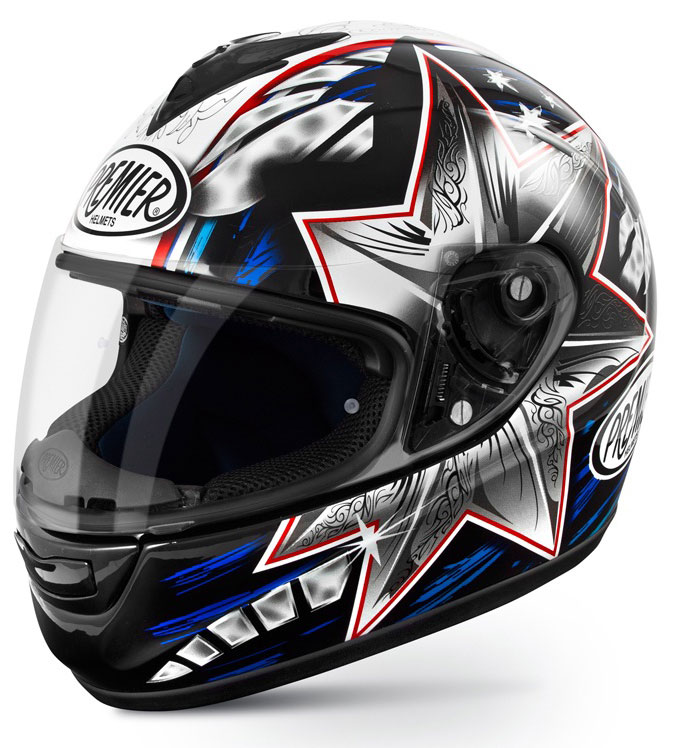 Casco integrale Premier Monza in fibra replica Bayliss 2014
