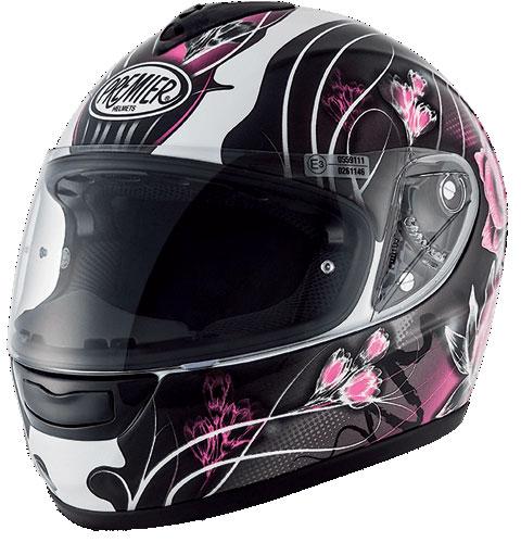 Premier Monza Vanity full face helmet Black White Pink 8