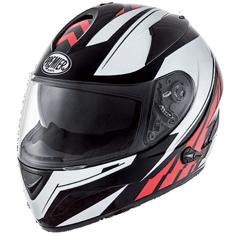 Premier Phase full face helmet Black White Red QX9