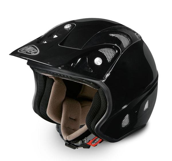Casco moto jet trial Premier FREE nero