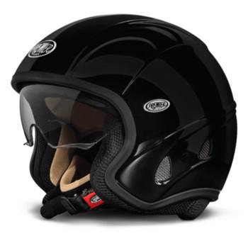Motorcycle helmet jet Premier FREE black EVO with integrated vis