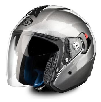 jet Premier touring motorcycle helmet visor JT4 long anthracite