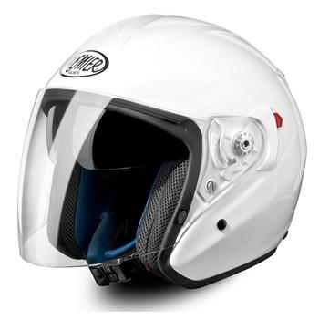 Casco moto jet Premier jt4 touring visiera lunga bianco