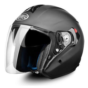 JT4 premier touring motorcycle helmet jet long visor matte black
