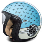 Premier Vintage motorcycle helmet jet fiber with integrated viso
