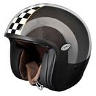 Casco moto jet Premier Vintage titanium con visierino integrato