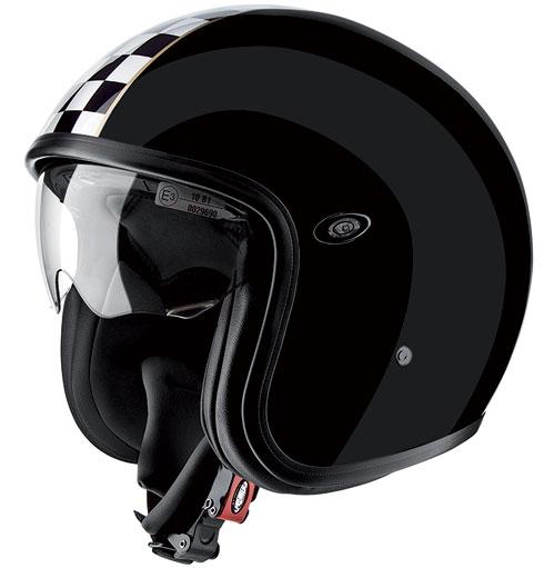 Premier Vintage jet helmet Black ckbl