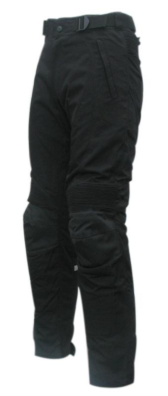 Pantaloni moto donna in tessuto TecLady nero