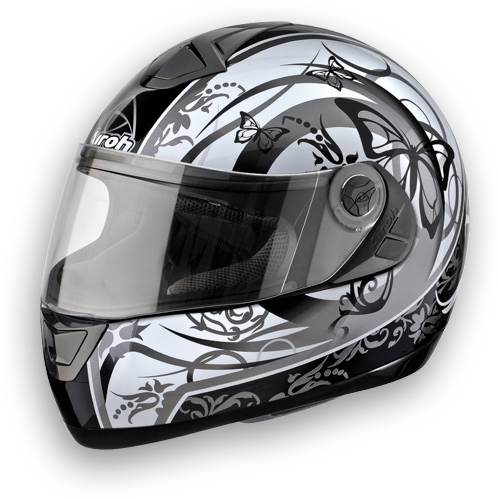 Casco moto Airoh Aster-X Butterfly grigio