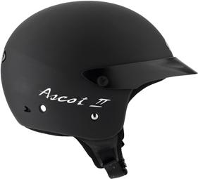 Casco moto Mds By Agv Ascot II Mono nero opaco