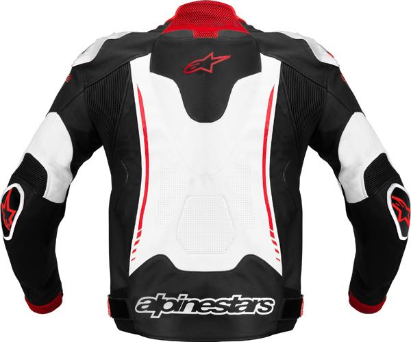 Alpinestars Atem leather jacket black-white-red