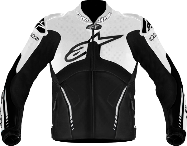 Alpinestars Atem leather jacket black-white