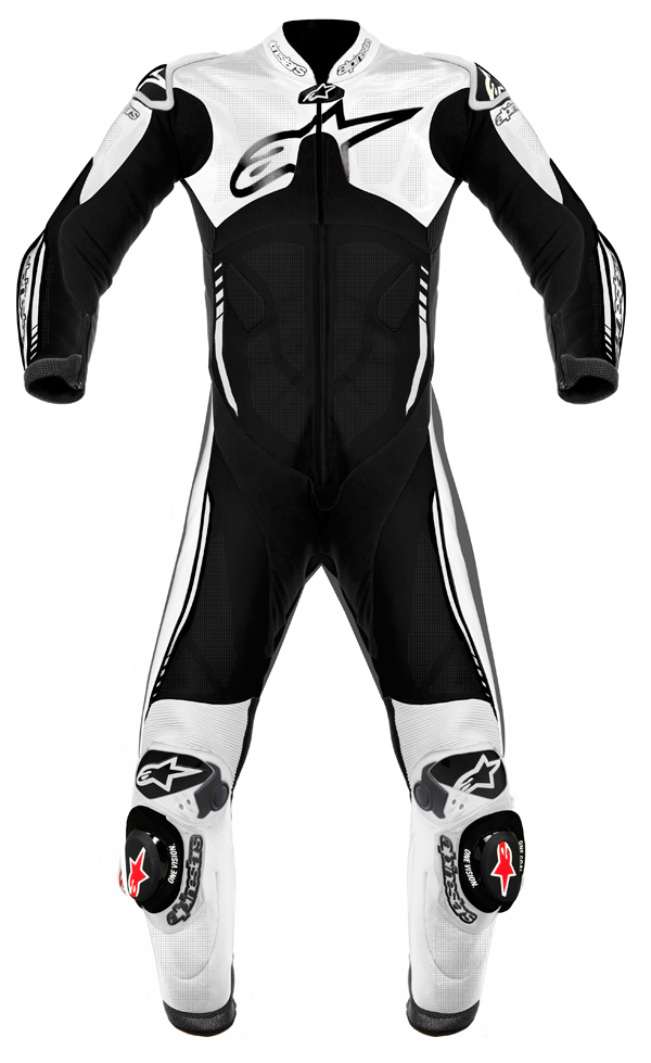Alpinestars Atem leather suit black-white