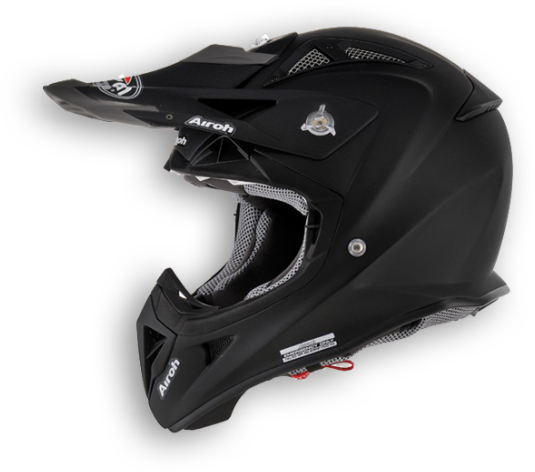 Casco moto cross Airoh Aviator Color nero opaco