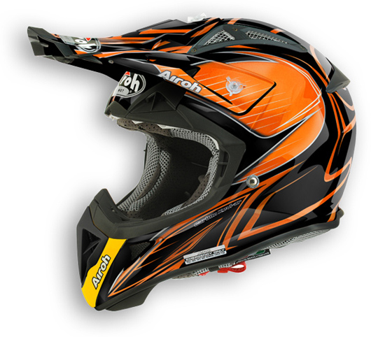 Airoh aviator 2.1 Lineal Bicolor offroad helmet orange