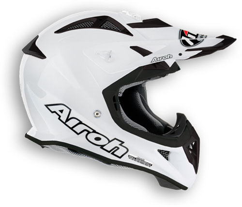 AIROH Aviator Color MX Helmet - Col. Pearl White
